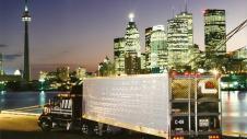 Zavitz truck along the Toronto skyline
