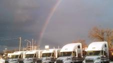 Zavitz trucks at the end of the rainbow